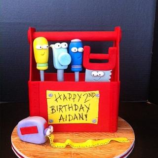 Handy manny Toolbox cake - Cake by Woodcakes