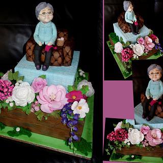 Cake with grandma - Cake by OSLAVKA
