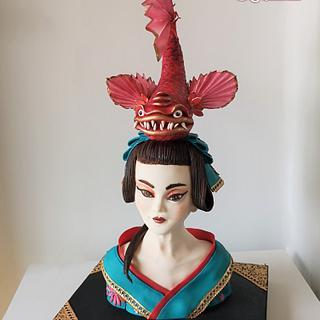 Sayuri - Japan collaboration - Cake by Bety'Sugarland by Elisabete Caseiro