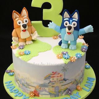 Bluey Cake - Cake by Cakes by Vivienne