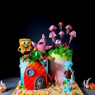 Sponge Bob & Patrick - Cake by Radoslava Kirilova (Radiki's Cakes)