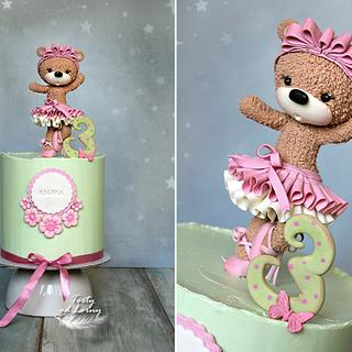 Teddy bear - ballerina - Cake by Lorna