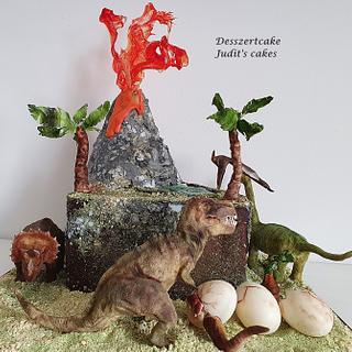 Dinosaurs cake - Cake by Judit
