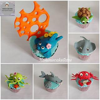 Underwater themed cupcakes  - Cake by Rohini Punjabi