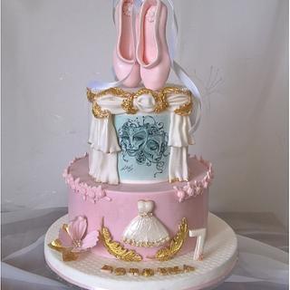 Ballet & theatre cake