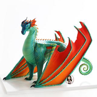 'Wings of fire' dragon cake - Cake by Inspired Cakes - by Amy