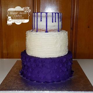 Purple & Ivory Petals & Ruffles