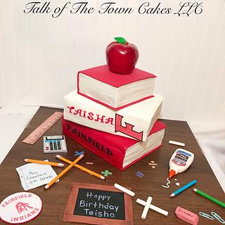 Teacher books  Birthday cake