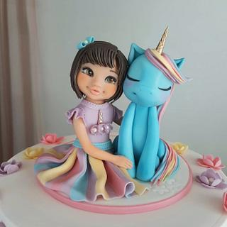 Girl with an unicorn