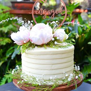 Engagement cake - Cake by Lulubelle's Bakes