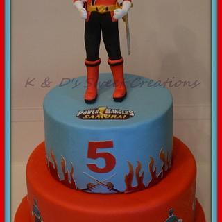 Power rangers samurai birthday cake