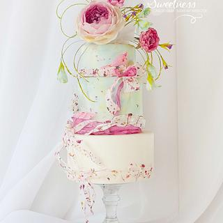 Delicate Floral Cake
