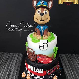 Combi Cake Paw Patrol, Cars and Blaze.