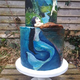 Hand painted fantasy cake