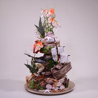 Underwater Shipwreck Cake