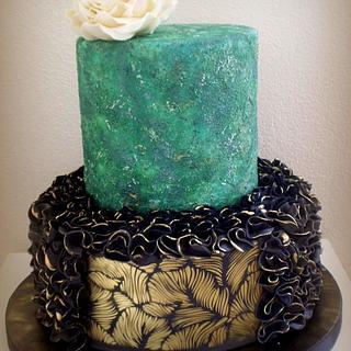 Elegantní narozeninový dort