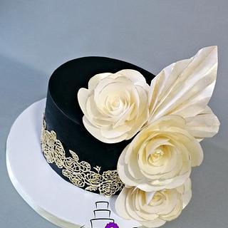 Elegant black cake