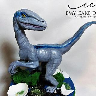Jurassic World cake - Velociraptor Blue