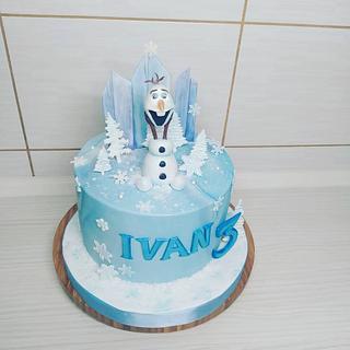 Olaf frozen cake - Cake by Tortalie