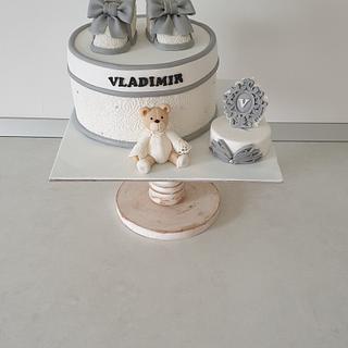 Lace Cristening  cake.