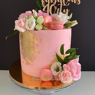 Buttercream flower cake - Cake by Penny Sue