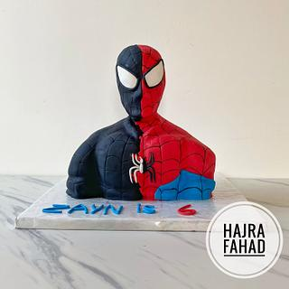 Spider-Man Bust Cake - Cake by Hajra Fahad Rahman