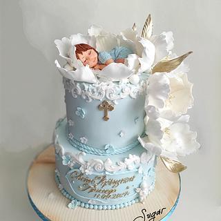 Christening cake - Cake by Tanya Shengarova