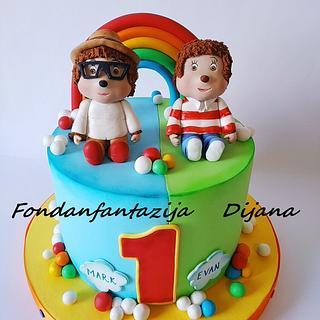 Monchhichis themed cake