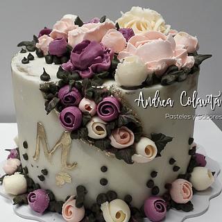 Fault line flower cake