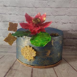Lotus pond cake - Cake by Dr RB.Sudha