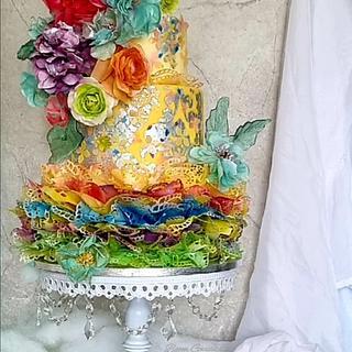 Wafel paper cake  - Cake by Justyna Rebisz