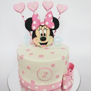 Lana's Minnie mouse birthday cake