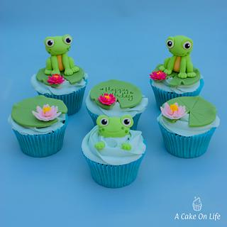 Frog Themed Cupcakes! - Cake by Acakeonlife