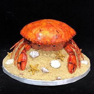 Crabby Cake  - Cake by Artistic Cake Designs