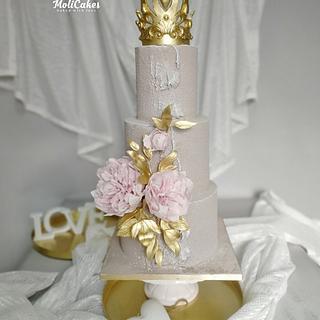 Peonies - Cake by MOLI Cakes