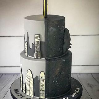Star Wars Batman cake  - Cake by Maria-Louise Cakes