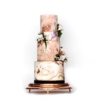MARBLE FONDANT CAKE - Cake by Le RoRo Cakes