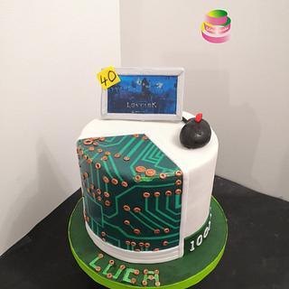 Computer cake - Cake by Ruth - Gatoandcake