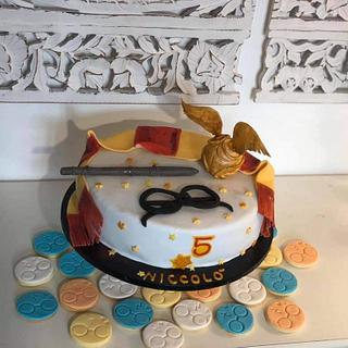 Harry Potter cake and biscuits