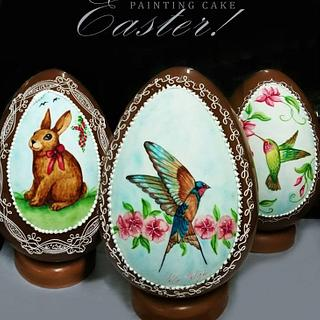 Easter Chocolate Eggs - Cake by Katia Malizia