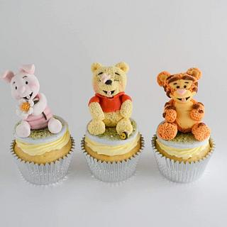 Winnie the Pooh and Friends Cupcakes - Cake by Juliana's Cake Laboratory