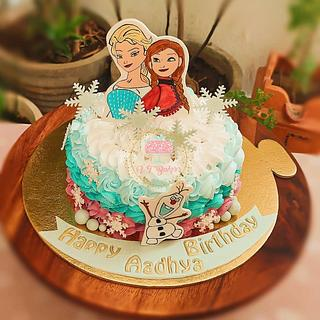 Freehand painted cake - Cake by Arti trivedi