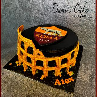 AS Roma Cake - Colosseum Cake - Cake by Cécile Fahs