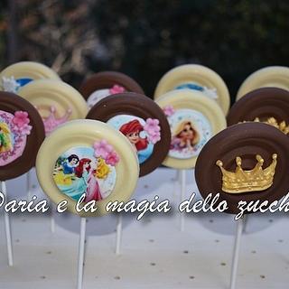 Chocolate lollipops Disney princess