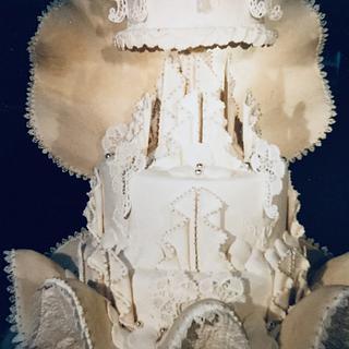 Shell cake, wedding cake