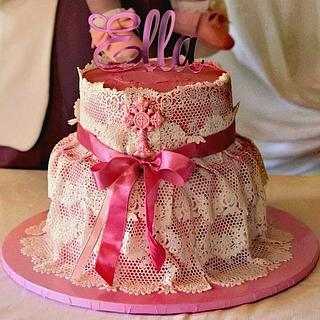 Edible lace cake - Cake by Tinkerbell sweets