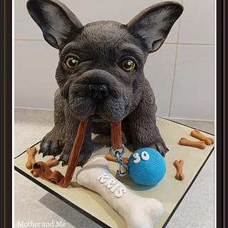 French Bulldog cake - Cake by Mother and Me Creative Cakes