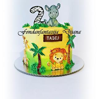Baby jungle animals - Cake by Fondantfantasy