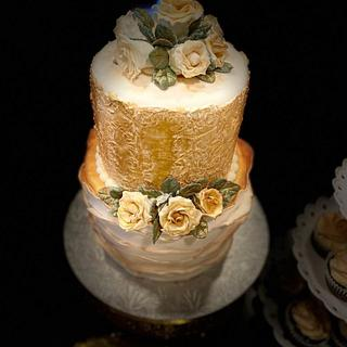 Rose Gold Cake - Cake by Simplii Cakezz by Nehasree