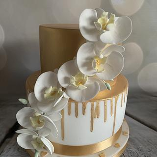 Our golden wedding anniversary cake - Cake by Roberta